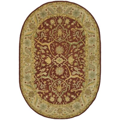 Dunbar Rust Area Rug Rug Size: Rectangle 3 x 5