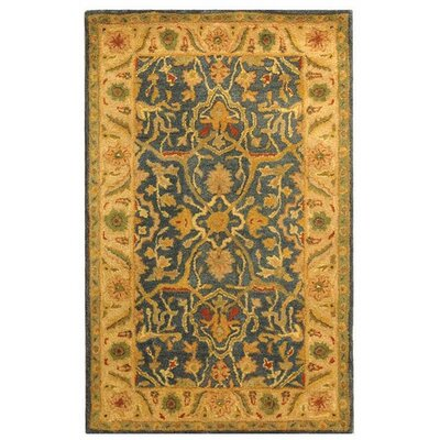 Dunbar Hand-Woven Wool Beige/Green Area Rug Rug Size: Rectangle 4 x 6