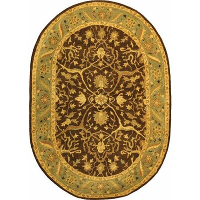 Dunbar Brown/Green Area Rug Rug Size: Rectangle 76 x 96