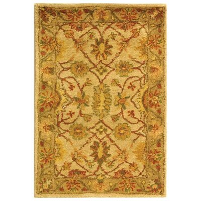 Dunbar Ivory/Light Green Area Rug Rug Size: Rectangle 2' x 3'