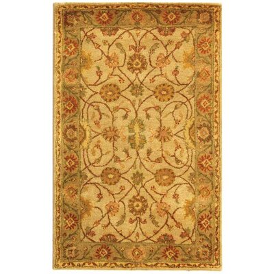 Dunbar Ivory/Light Green Area Rug Rug Size: Rectangle 3 x 5