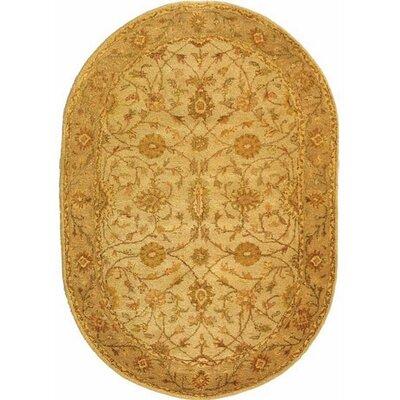 Dunbar Ivory/Light Green Area Rug Rug Size: Oval 76 x 96