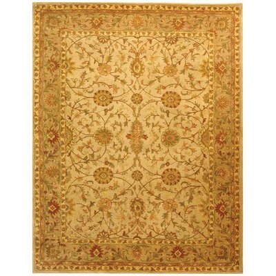 Dunbar Ivory/Light Green Area Rug Rug Size: Rectangle 83 x 11