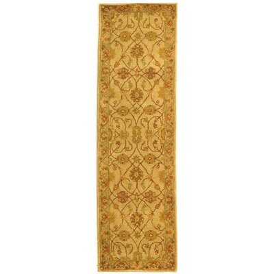 Dunbar Ivory/Light Green Area Rug Rug Size: Runner 23 x 12