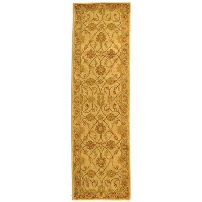 Dunbar Ivory/Light Green Area Rug Rug Size: Runner 23 x 8