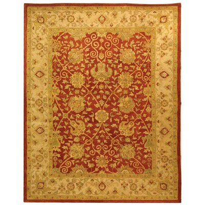 Dunbar Rust Area Rug Rug Size: Rectangle 83 x 11