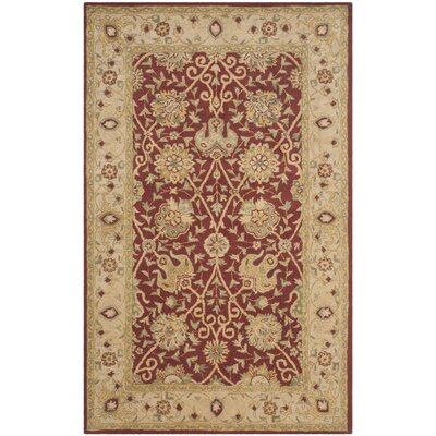 Dunbar Rust Area Rug Rug Size: Rectangle 4 x 6