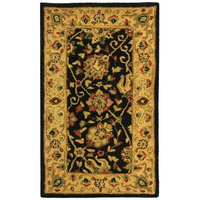 Dunbar Black Area Rug Rug Size: Rectangle 2'3