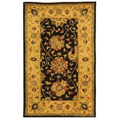 Dunbar Black Area Rug Rug Size: Rectangle 4' x 6'