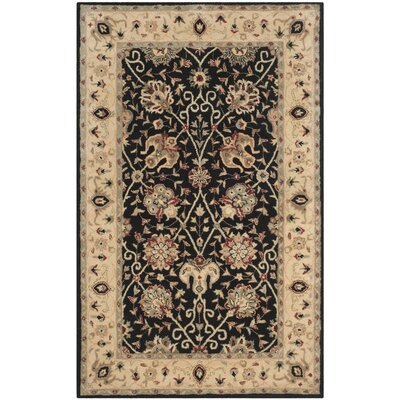 Dunbar Black Area Rug Rug Size: Rectangle 6' x 9'