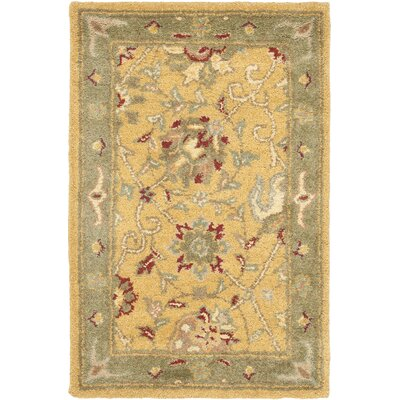 Dunbar Gold Area Rug Rug Size: Rectangle 2' x 3'