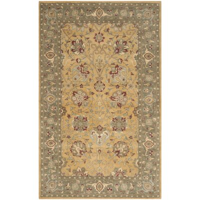 Dunbar Gold Area Rug Rug Size: Rectangle 6 x 9