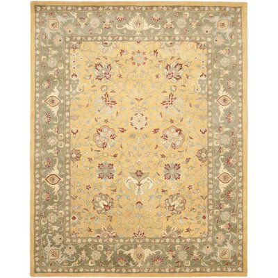 Dunbar Gold Area Rug Rug Size: Rectangle 96 x 136