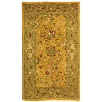Dunbar Gold Area Rug Rug Size: Rectangle 2'3
