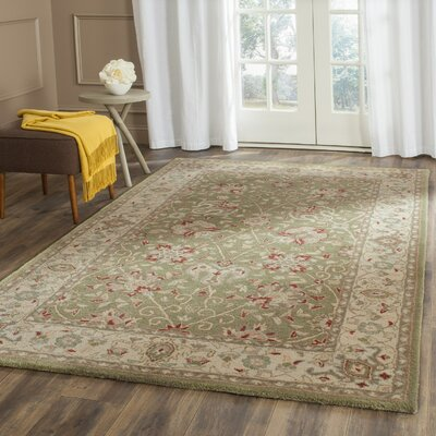 Dunbar Hand-Woven Wool Sage Area Rug Rug Size: Rectangle 76 x 96