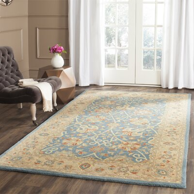 Dunbar Blue Area Rug Rug Size: Rectangle 76 x 96