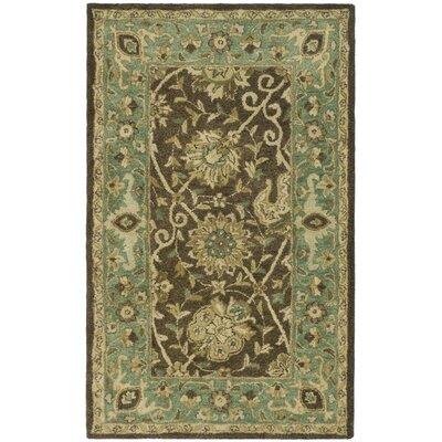 Dunbar Brown/Green Area Rug Rug Size: 3 x 5