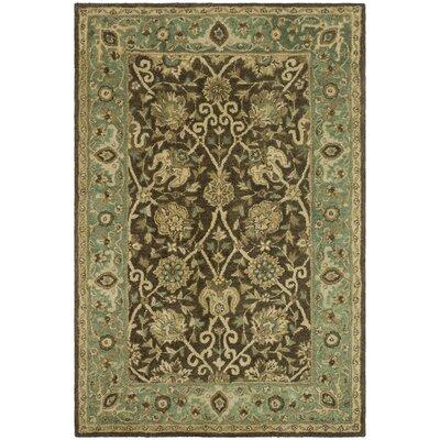 Dunbar Brown/Green Area Rug Rug Size: 4 x 6