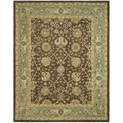 Dunbar Brown/Green Area Rug Rug Size: 76 x 96