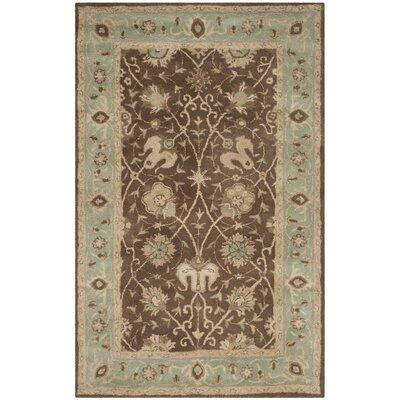 Dunbar Brown/Green Area Rug Rug Size: 6 x 9