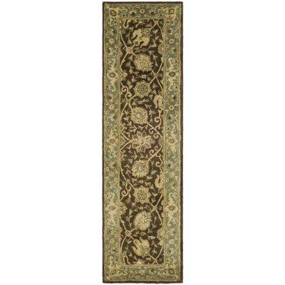 Dunbar Hand-Woven Wool Brown/Green Area Rug Rug Size: Runner 23 x 10
