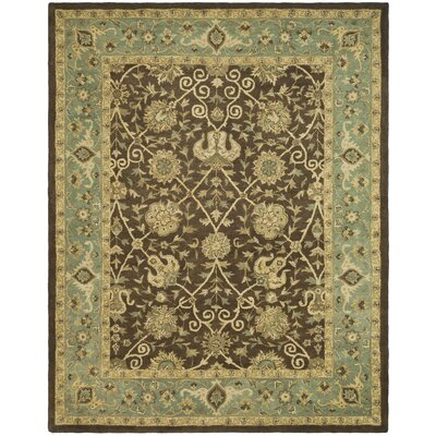 Dunbar Brown/Green Area Rug Rug Size: 96 x 136