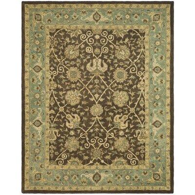 Dunbar Brown/Green Area Rug Rug Size: 83 x 11