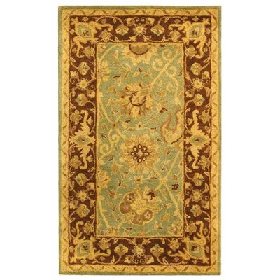 Dunbar Green/Brown Area Rug Rug Size: Rectangle 3 x 5