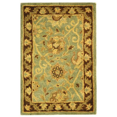 Dunbar Green/Brown Area Rug Rug Size: Rectangle 2 x 3