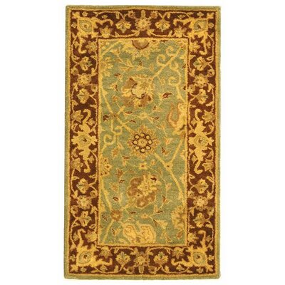 Dunbar Green/Brown Area Rug Rug Size: Rectangle 23 x 4