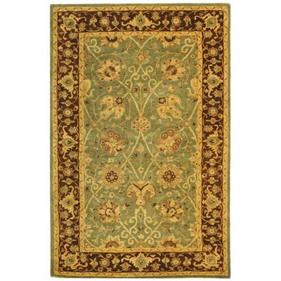 Dunbar Green/Brown Area Rug Rug Size: Rectangle 5 x 8
