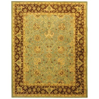 Dunbar Green/Brown Area Rug Rug Size: Rectangle 76 x 96