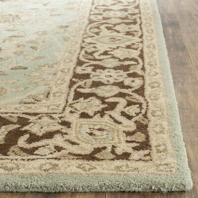 Dunbar Green/Brown Area Rug Rug Size: Rectangle 6 x 9
