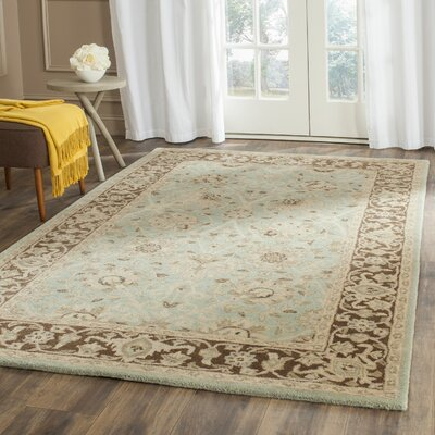 Dunbar Green/Brown Area Rug Rug Size: Rectangle 96 x 136