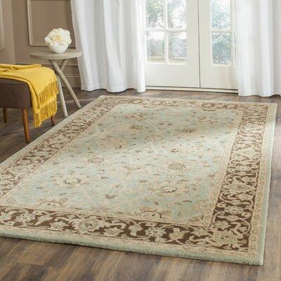 Dunbar Green/Brown Area Rug Rug Size: 96 x 136