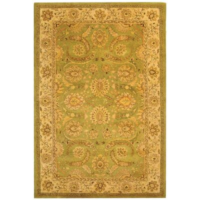 Dunbar Green/Ivory Area Rug Rug Size: Rectangle 6 x 9