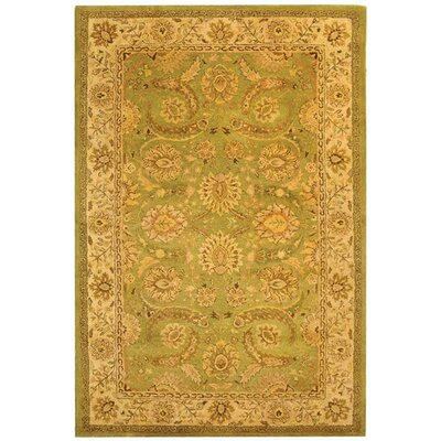 Dunbar Green/Ivory Area Rug Rug Size: Rectangle 76 x 96