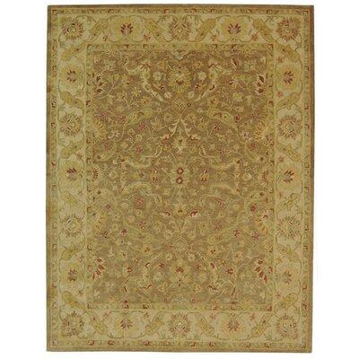 Dunbar Brown/Gold Area Rug Rug Size: 76 x 96