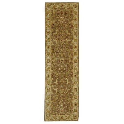 Dunbar Hand-Woven Wool Brown/Gold Area Rug Rug Size: Runner 23 x 12
