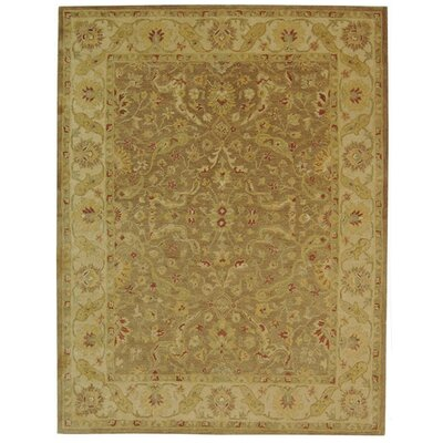 Dunbar Hand-Woven Wool Brown/Gold Area Rug Rug Size: Rectangle 76 x 96