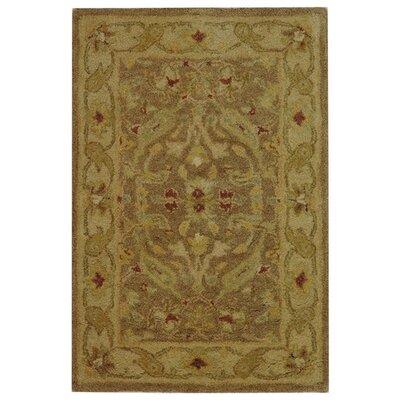 Dunbar Brown/Gold Area Rug Rug Size: 2 x 3