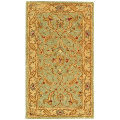 Dunbar Teal/Beige Area Rug Rug Size: Rectangle 23 x 4