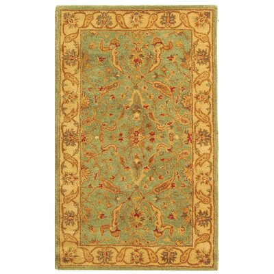 Dunbar Teal/Beige Area Rug Rug Size: Rectangle 3 x 5