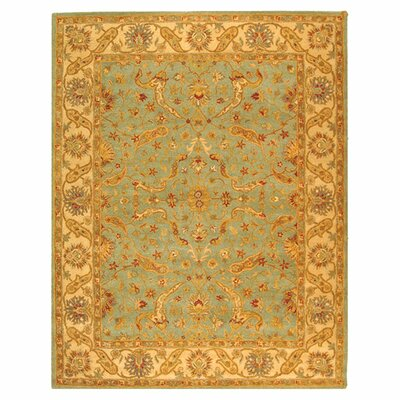 Dunbar Teal/Beige Area Rug Rug Size: Rectangle 96 x 136
