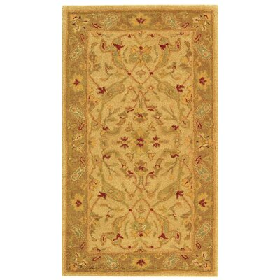 Dunbar Hand-Woven Wool Ivory/Brown Area Rug Rug Size: Rectangle 23 x 4
