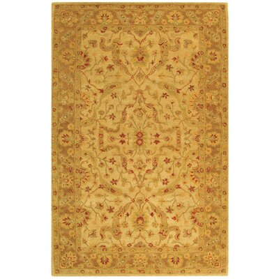 Dunbar Hand-Woven Wool Ivory/Brown Area Rug Rug Size: Rectangle 5 x 8