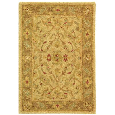 Dunbar Hand-Woven Wool Ivory/Brown Area Rug Rug Size: Rectangle 2 x 3