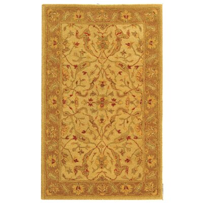 Dunbar Hand-Woven Wool Ivory/Brown Area Rug Rug Size: Rectangle 3 x 5