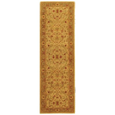 Dunbar Hand-Woven Wool Ivory/Brown Area Rug Rug Size: Runner 23 x 8