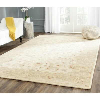 Dunbar Ivory/Brown Area Rug Rug Size: Rectangle 4 x 6